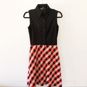 1960's Mod Collared Mini Dress